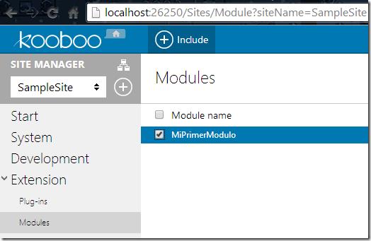 Incluir el Módulo en el Sitio Web