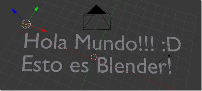 Hola Mundo con Blender
