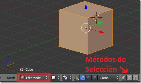 Modo de Edición en Blender
