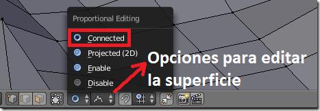 Edición Proporcional en Blender
