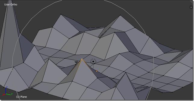 Mover varios vértices mediante una edición proporcional