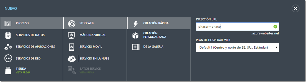 Creando un Sitio Web en Azure